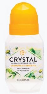 CRYSTAL DEOD.ROLL-ON CHAMOMILE & GREEN TEA 66ML