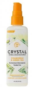 CRYSTAL DEOD.SPRAY CHAMOMILE & GREEN TEA 118ML