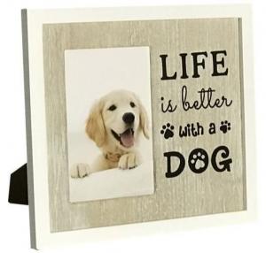 DOG PHOTO FRAME LIFE 4X6