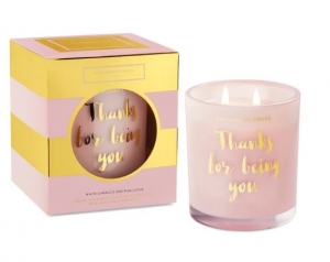 EMPOWERING CHICKS CANDLE WHITE CAMELLIA & PINK LOTUS 370G