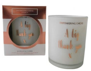 EMPOWERING CHICKS CANDLE WHITE LOTUS FLOWER 180G