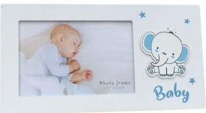 BABY PHOTO FRAME ELEPHANT 6X4 BLUE