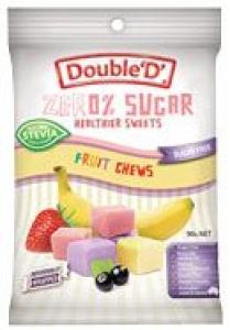 DOUBLE D FRUIT CHEWS 72G