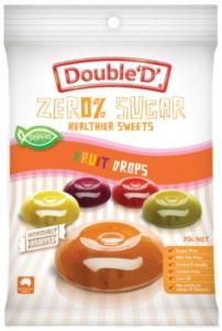 DOUBLE D FRUIT DROPS 70G