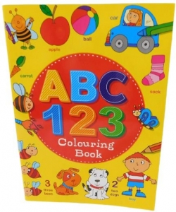 FUN LEARNING ABC & 123 COLOURING BOOK 40PG
