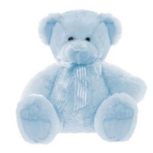 FRANKIE BEAR BLUE 40cm