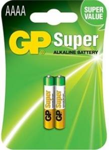 GP BATTERY ALKALINE AAAA 1.5V CRD2###