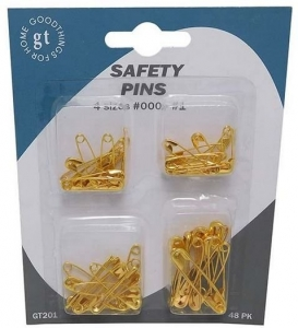 SAFETY PINS PACK 48 (SIZE '0' & '00')