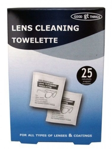 LENS CLEANING TOWELETTES PK 25(WIPES)