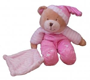 BABY BEAR CUDDLES PINK 27CM