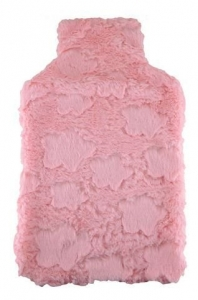 HOT WATER BOTTLE COVER PINK PLUSH+++