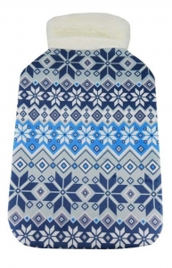 HOT WATER BOTTLE COVER SNOWFLAKE+++