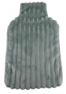 HOT WATER BOTTLE COVER PLUSH PEWTER+++