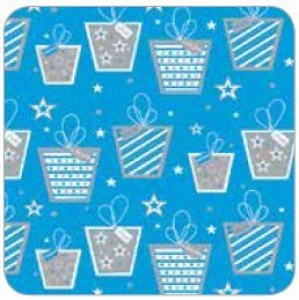 GIFT WRAP PAPER 50M BLUE GIFTS+++