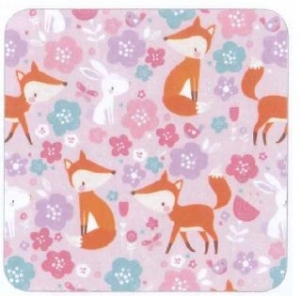 GIFT WRAP 50M FOXES AND FLOWERS+++