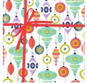GIFT WRAP PAPER 50M CHRISTMAS BAUBLES+++