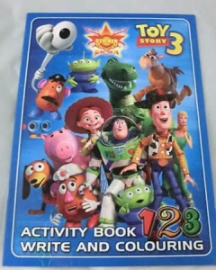 COLOURING BOOK WITH STICKERS TOY STORY