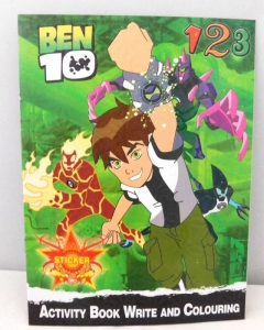COLOURING BOOK + STICKERS BEN 10
