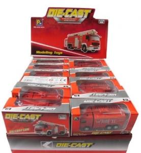 DIE CAST PULL BACK FIRE ENGINE  ASSTD