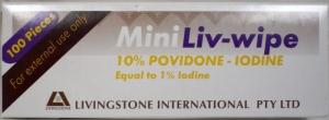 LIV. WIPE POV-IODINE WIPE 100PKT 55X50MM