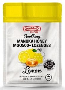 DOUBLE D LEMON &  MANUKA HONEY LOZENGES 80G