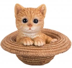 GINGER CAT IN HAT MONEY BOX(SO)