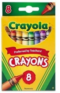 CRAYOLA CRAYONS PK 8