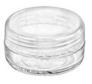 10ML CLEAR STYRENE LIP BALM JAR W/LID