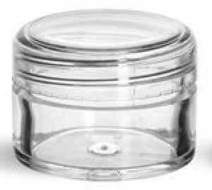 25GM CLEAR STYRENE JAR WITH LID