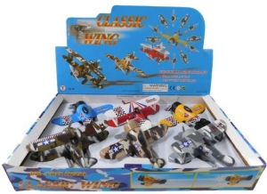 DIE CAST PULL BACK PLANE WITH LARGE WING SPAN 11CM