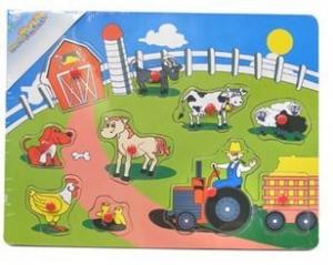 PUZZLE FENCED FARM ANIMALS