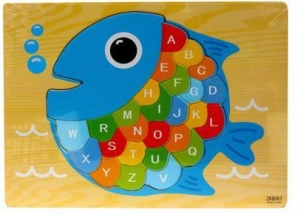 JIGSAW WOODEN PUZZLE FISH