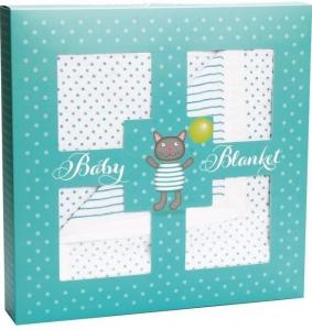 MUSLIN COT BLANKET CAT GIFT BOX 120X120CM+++