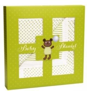 MUSLIN COT BLANKET TEDDY GIFT BOX 120X120CM+++