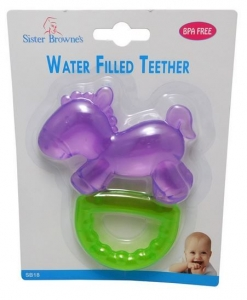 SISTER BROWNE PONY WATER FILLED TEETHER