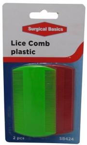 SB LICE COMB PLASTIC 2PK