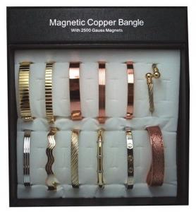 MAGNETIC COPPER BRACELET ASSTD UNIT 12