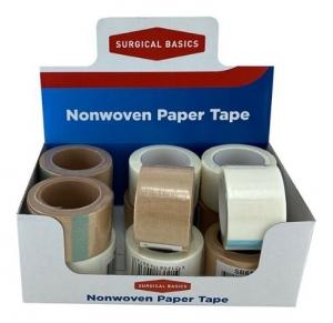 SB  PAPER TAPE TAN & WHITE 2.5X9.14M DISP12