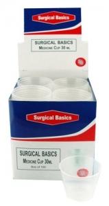SB MEDICINE CUPS PLASTIC 30ML GRAD BX100
