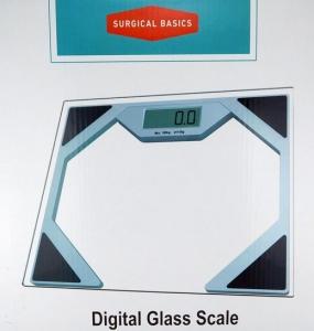 ELECTRONIC SCALES CLEAR GLASS 180KG