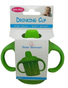 SISTER BROWNE 2-HANDLE N-SPILL CUP GREEN