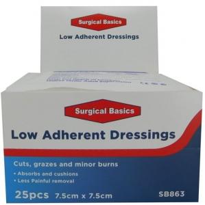 SB DRESSING LOW ADH STER.7.5X7.5CM DISP2