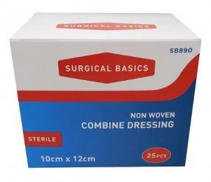 SB COMBINE DRESSING 10X12CM DISP25 L/F