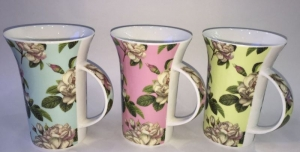 SC MUG WITH FLORAL DECAL