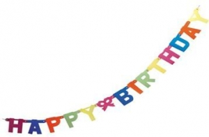 SC HAPPY BIRTHDAY PAPER GARLANDS+++