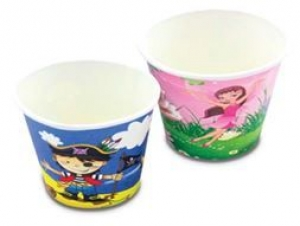 SC PRINTED CUP 260ML PIRATES 6'S+++