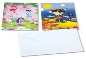 INVITATION CARDS PIRATES 10'S+++
