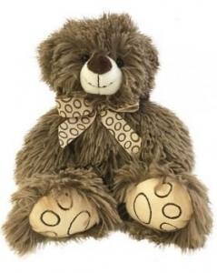 SHAGGY BEAR BROWN 25CM