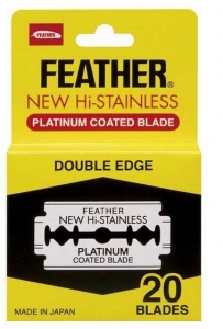 DOUBLDE SIDED RAZOR BLADE FEATHER PK20
