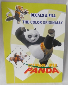 PANDA COLOURING BOOK WITH STICKERS